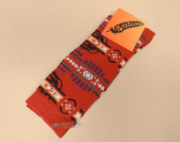 Southwestern Native Inspired Socks - Red