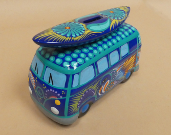 Hand Painted Van w/ Surfboard Bank