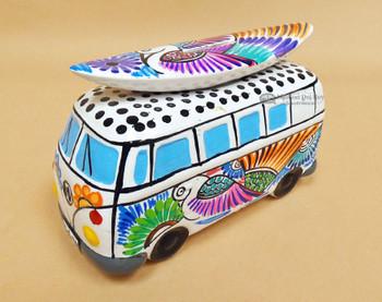 Talavera Hand Painted Bank - Hippie Van (2tp902)