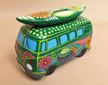 Hippie Van Talavera Pottery Bank  (2tp904)