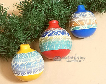 Set of 3 Etched Ornaments