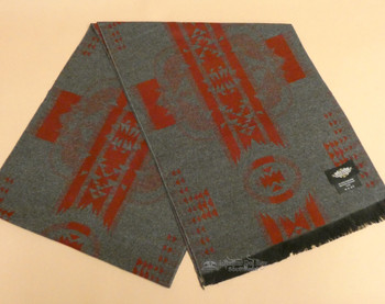 Southwestern Neck Scarf - Grey/Red