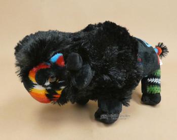 Southwestern Style Plush Buffalo - Black