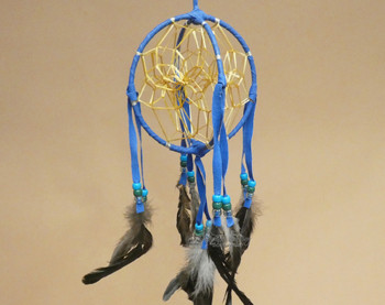 3D Native American Dreamcatcher - Blue