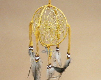 3D Native American Dreamcatcher - Gold