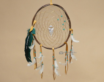 "Twisted Wood Native American Dream Catcher 10"" -Green"