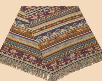 Cotton Southwestern Woven Throw - Native Blanket