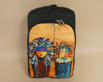 Southwestern Digital Print Backpack - Sun Faces