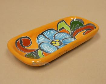 Hand Painted Mexican Talavera Pottery Soap Dish