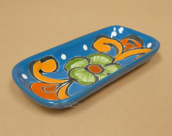Hand Painted Mexican Talavera Pottery Soap Dish