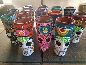 Mexican Day of the Dead Sugar Skull Shot glass