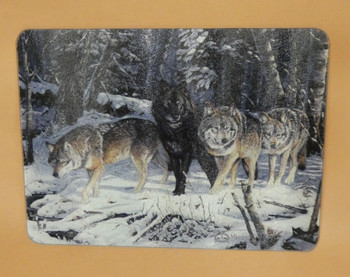 Tempered Glass Cutting Board - Wolves