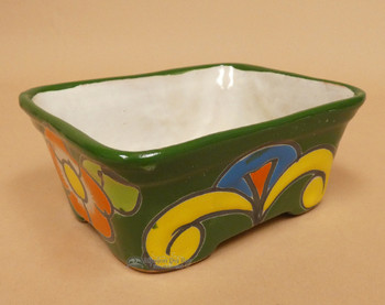 Hand Painted Talavera Pottery Footed Planter