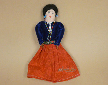 Handmade Rustic Navajo Dress Doll