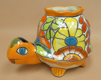 Hand Painted Mexican Talavera Turtle
