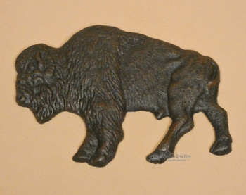 Cast Iron Buffalo Plaque 6.75""
