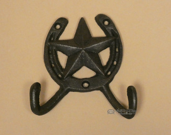 Cast Iron Metal Horseshoe Wall Hook