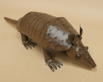 Handcrafted Armadillo Metal Art