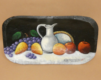 Hand Painted Bowl - Fruit & Vase