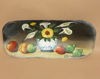 Hand Painted Bowl - Fruit & Flowers