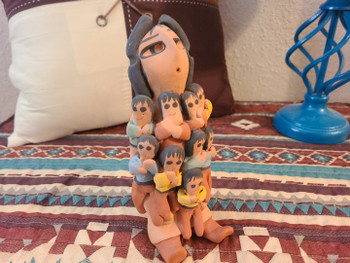Native American Pottery Storyteller Doll