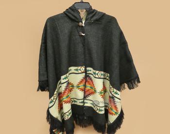 Western Espiga Style Cape - Black