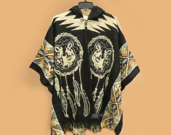 Blanket Poncho - Dreamcatcher Wolf