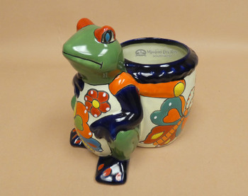 Hand Painted Talavera Frog Planter