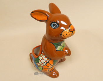 Hand Painted Talavera Rabbit Planter