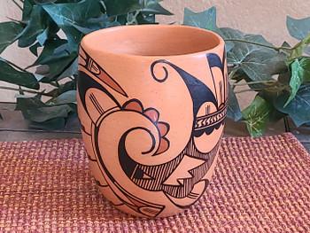 Hopi Hand Built Painted Pottery Vase