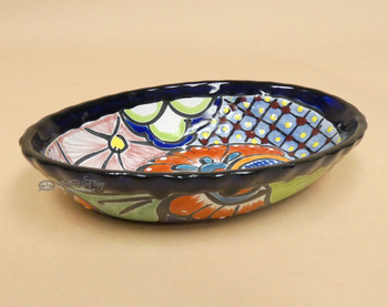 Oval Hand Painted Talavera Bowl