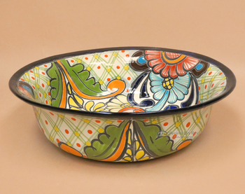 Large Hand Painted Talavera Bowl