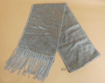 Genuine Alpaca Scarf - Silver