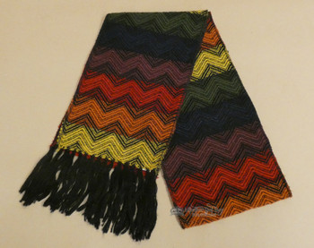 100% Alpaca Wool Scarf -Black