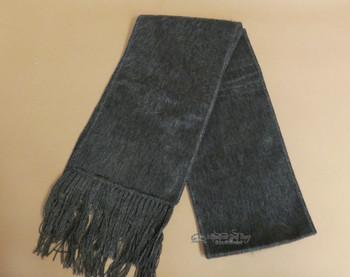 100% Alpaca Wool Scarf -Grey