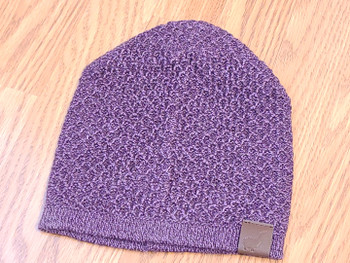 Knit Alpaca Beanie - Purple