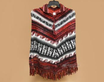 Knitted Alpaca Collard Poncho