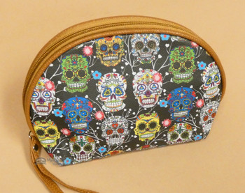 Day of the Dead Zippered Makeup Bag