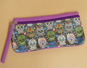 Day of the Dead Zippered Pencil Pouch
