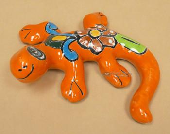 "Hand Painted Talavera Lizard 6"""