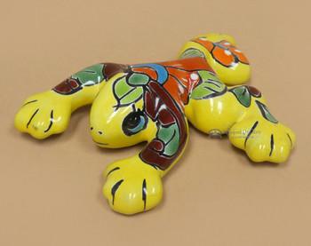 """Hand Painted Talavera Frog 6"""""""