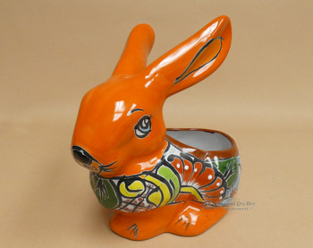 Mexican Talavera Rabbit Planter