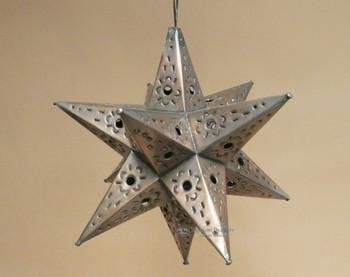 "Handcrafted Tin Metal Art Star 13"""