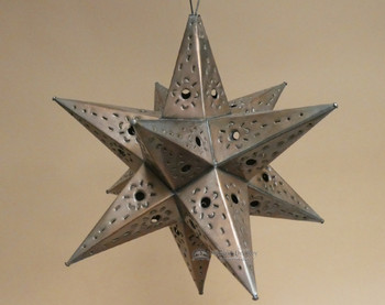 """Handcrafted Tin Hanging Metal Art Star 15"""""""