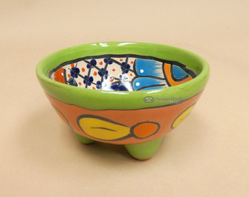 Hand Painted Talavera Footed Bowl