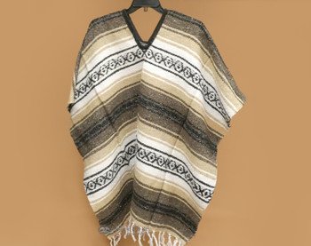 Mexican Falsa Poncho - Brown