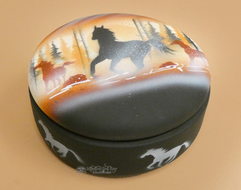 Hand Painted Navajo Pottery Jewelry Box