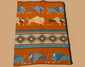 Soft Southwestern Fleece Lodge Blanket