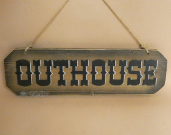 Rustic Outhouse Sign