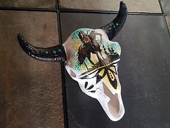 Native American Pottery Steer Skull